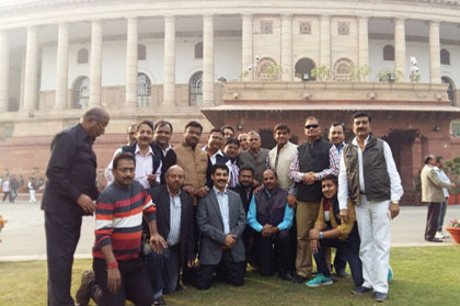 NCIC MEMBERS VISTING PARLIAMENT, GOVERNMENT OF INDIA, NEW DELHI ON 11TH DECEMBER, 2015